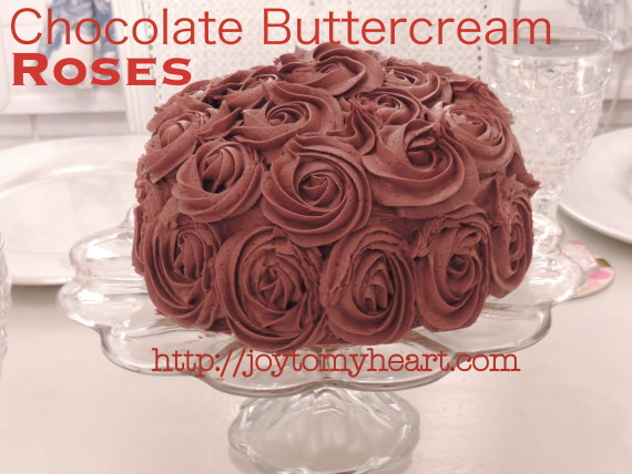 chocolate buttercream roses2