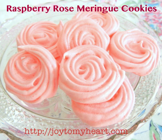 raspberry rose meringue cookies2