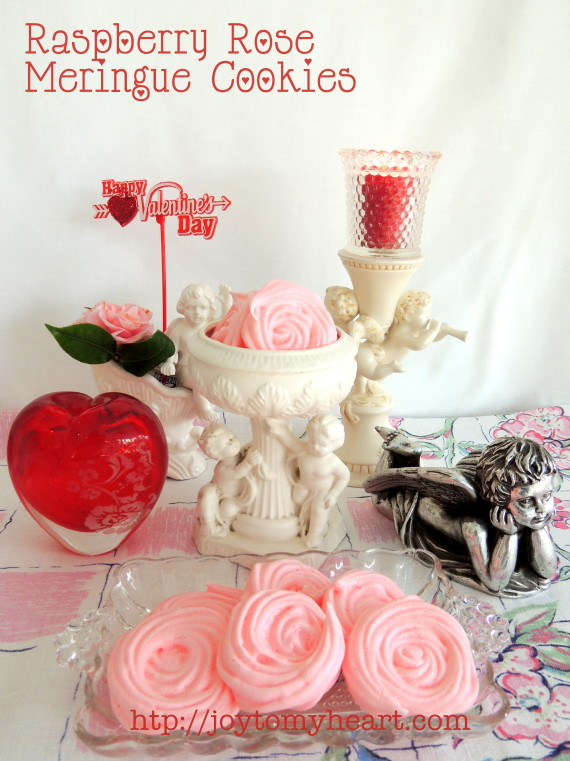 raspberry rose meringue cookies3