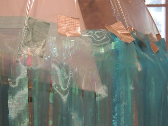 Jellyfish fabric taped