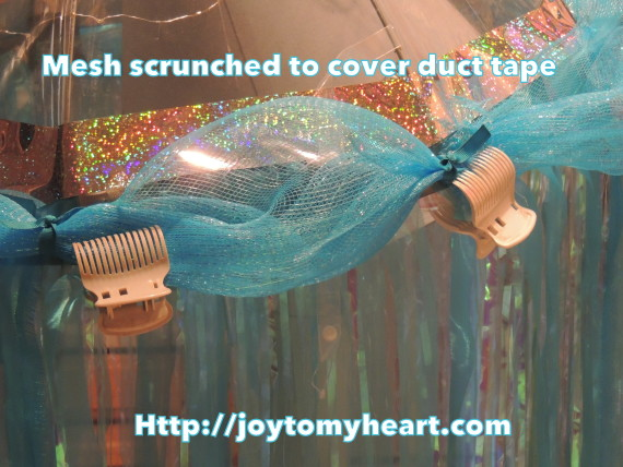 Jellyfish mesh scrunched