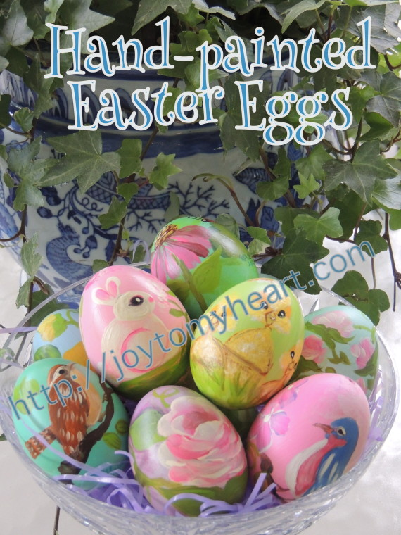 hand-painted easter eggs sign