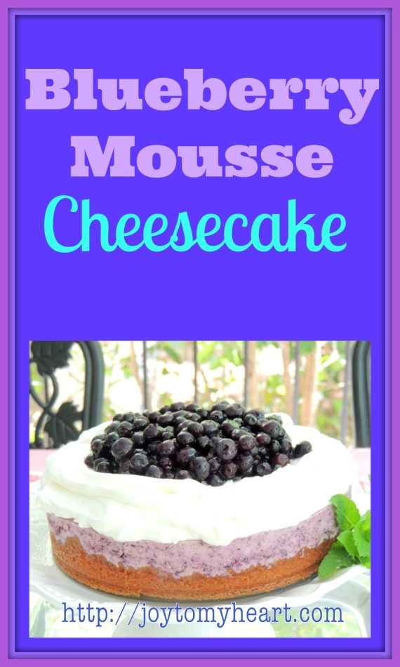 blueberry mousse cheesecake ad