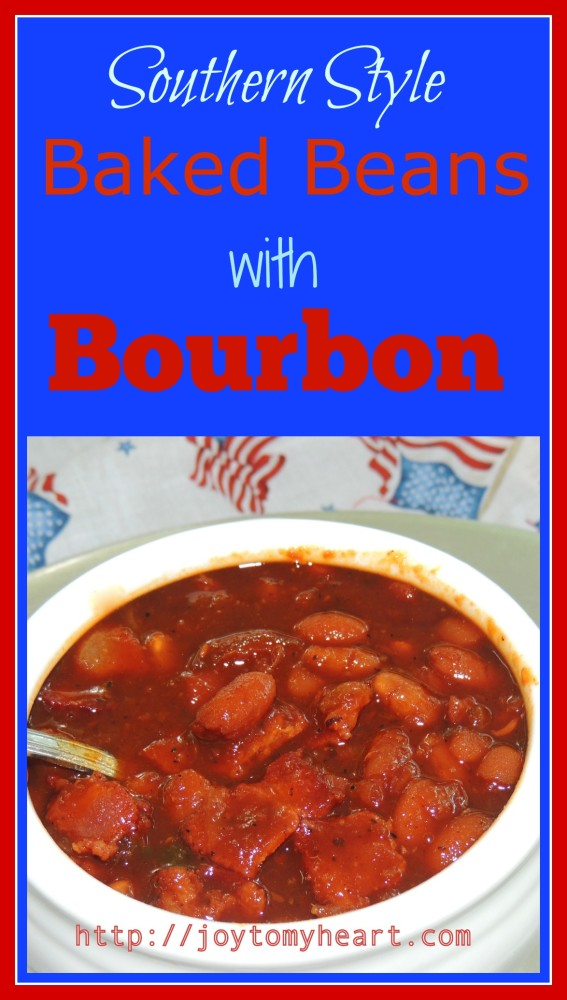 southern style baked beans with bourbon