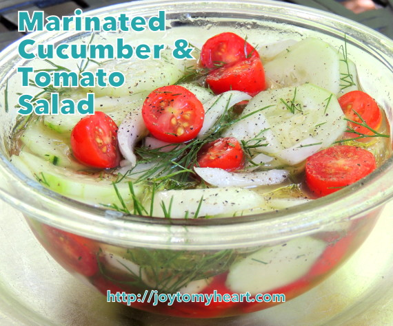 marinated cucumber and tomato salads