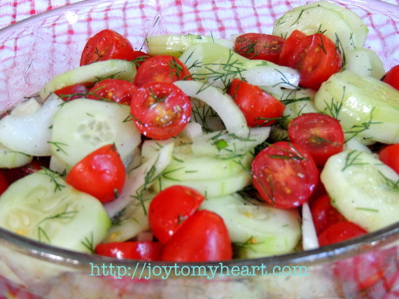 marinated cucumber tomato salad