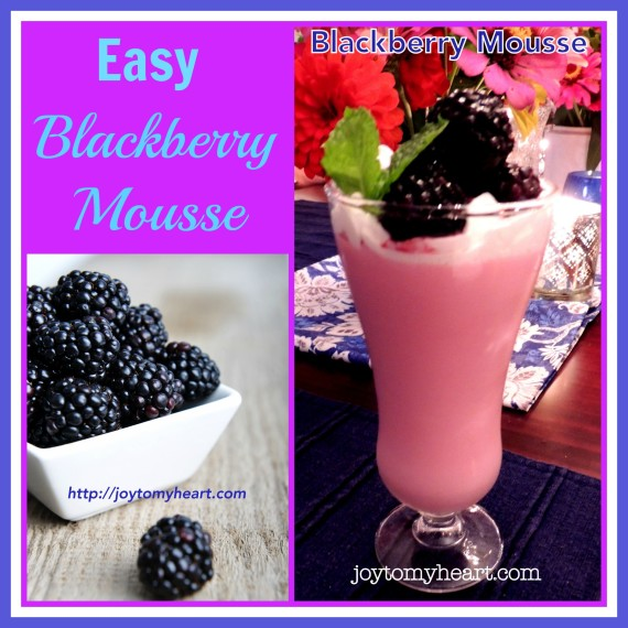 Easy Blackberry Mousse