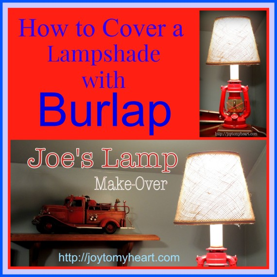 How to cover a lampshade with burlap