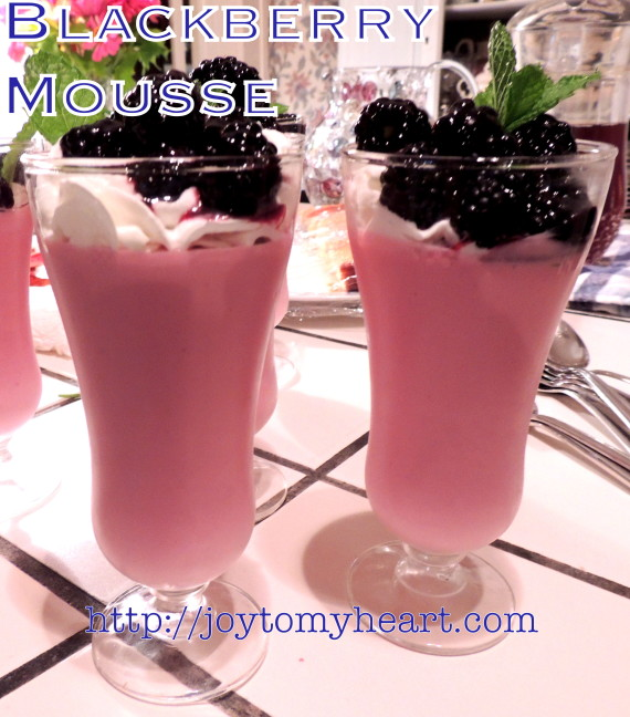 blackberry mousse 2