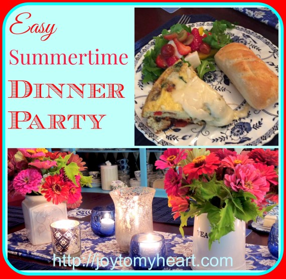 easy summertime dinner party