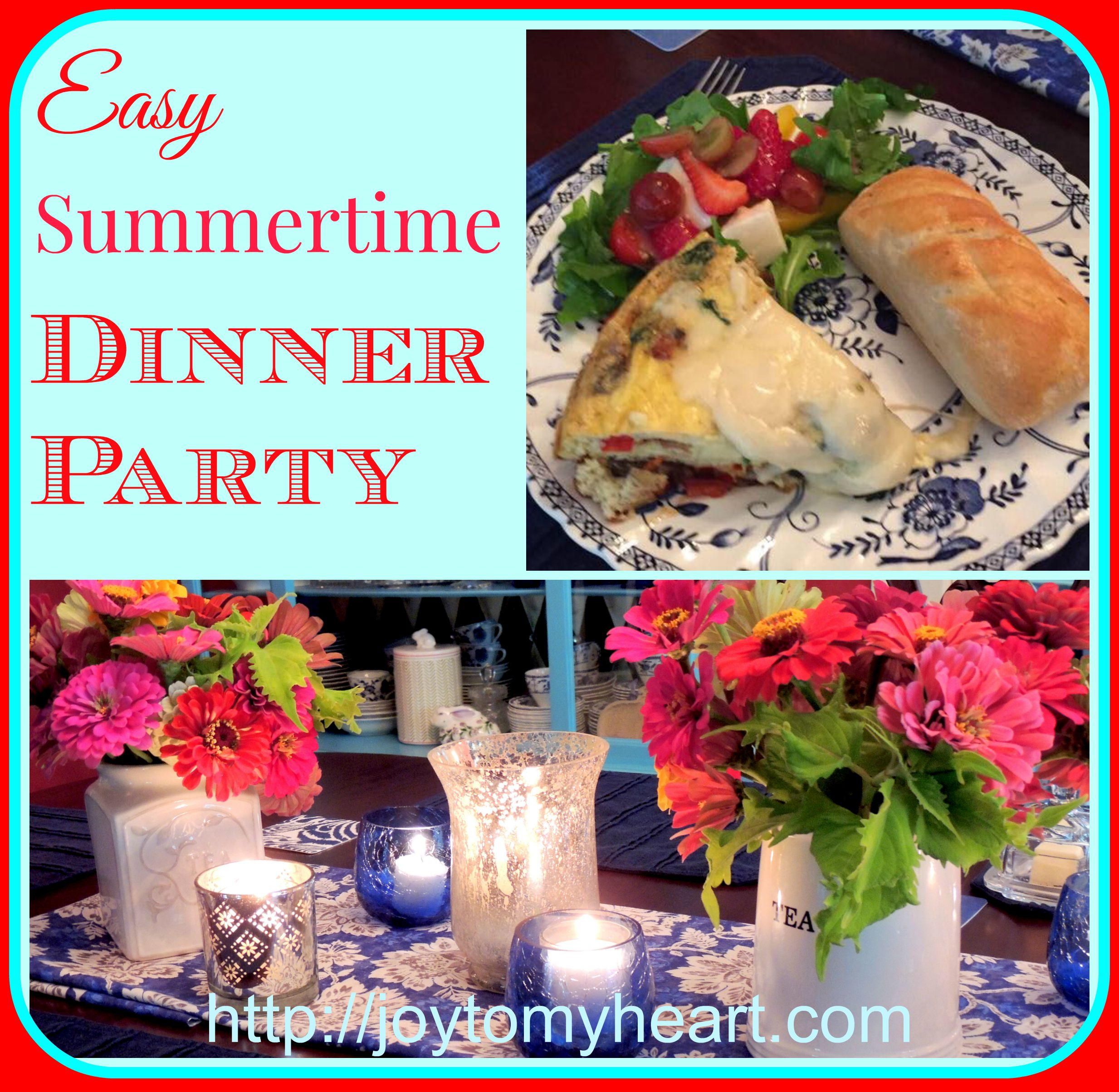 Summer Dinner Party Menu Ideas Part - 27: Easy Summer Dinner Party