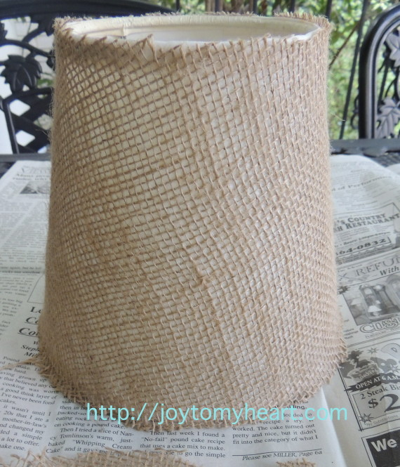how to cover a lampshade trimmed