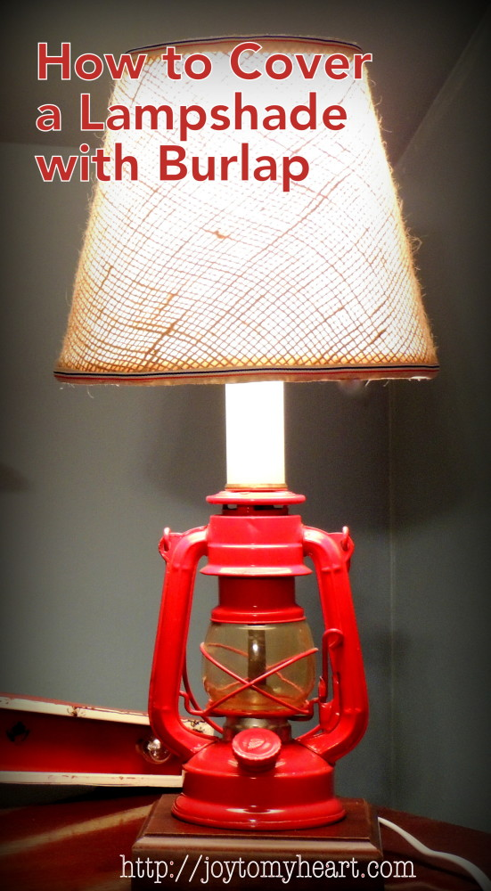 hwow to cover a lampshade with burlap1