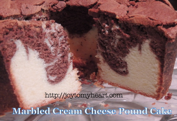 marbled cream cheese pound cake