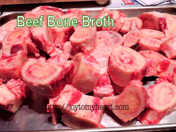 beef bone broth tray