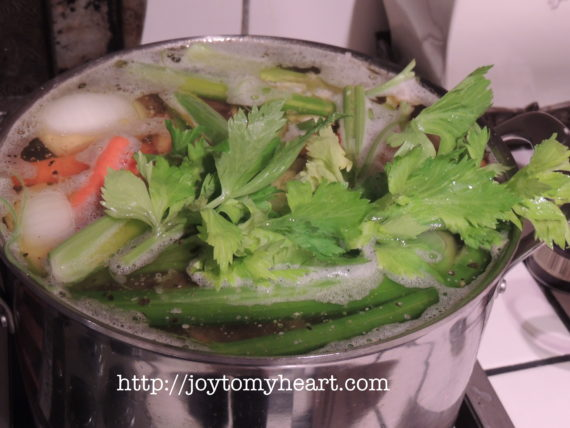 bone broth beef veggies