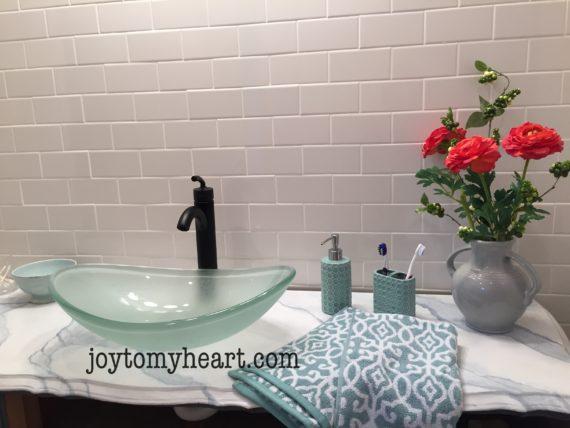 vanity sink installed