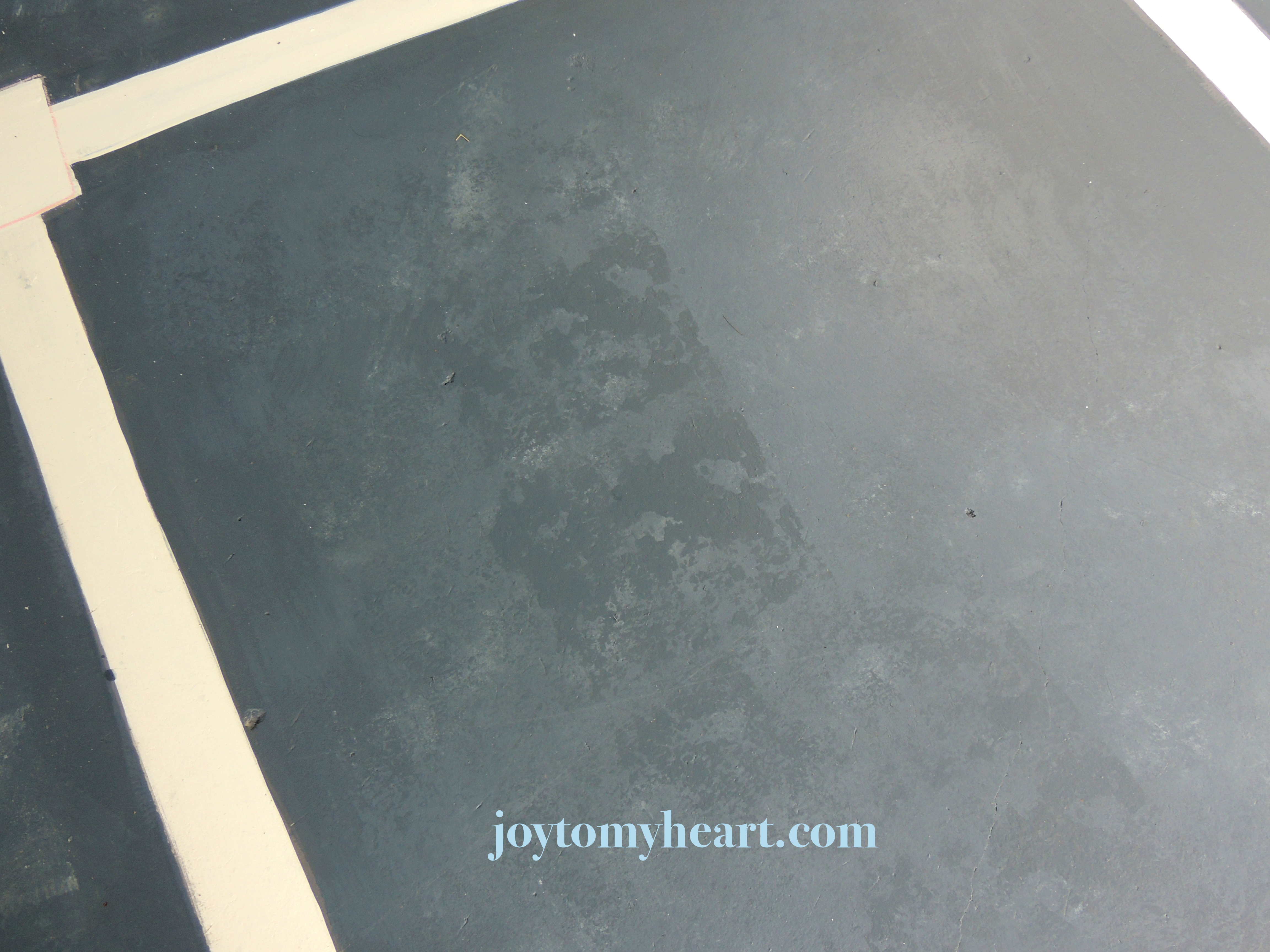Diy Paint A Porch Faux Slate With Stencil Tiles Joy To My Heart