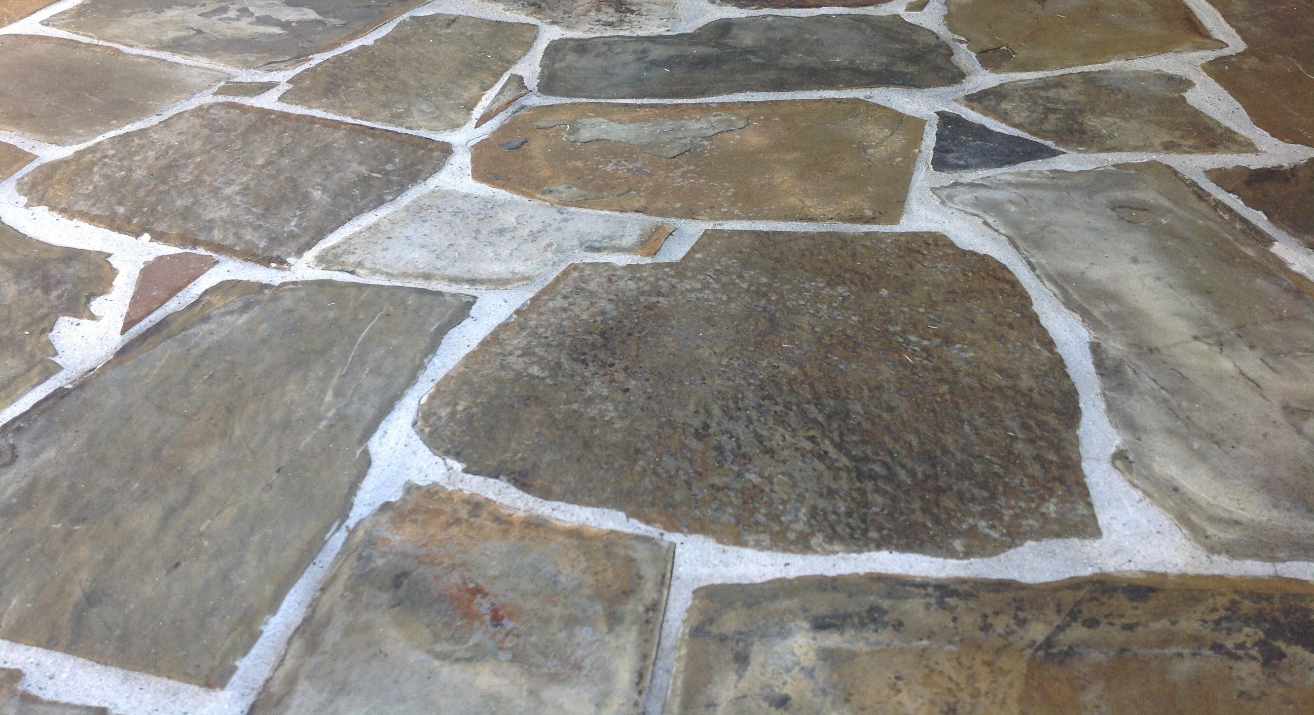 Diy Paint A Porch Faux Slate With Stencil Tiles Joy To